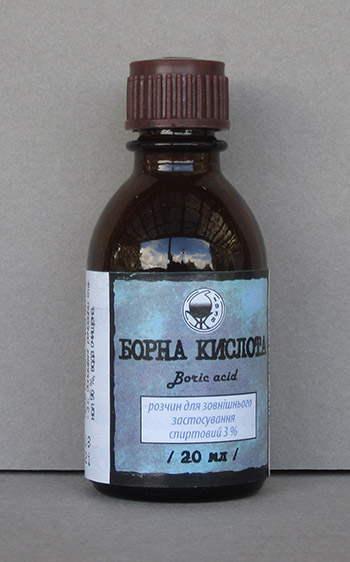 Борный спирт, 20мл/Boric acid tincture, 20ml