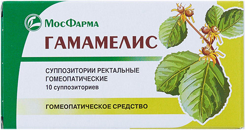 Гамамелиса суппозитории, №10/Hamamelis suppositories, #10